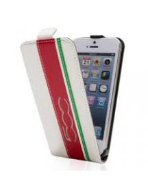 Funda solapa Fiat 500 FTFLP5CIW iPhone 5 - 5S blanca