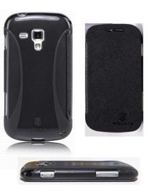Funda libro TPU Nillkin Samsung S7560 Galaxy Trend negra