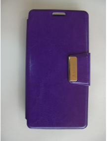 Funda libro Coolpad Smart 4G 8860U Vodafone lila