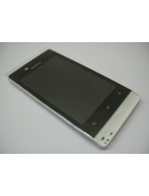 Display completo Sony Xperia Miro ST23i blanco