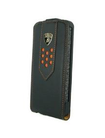 Lamborghini funda solapa piel superleggera-d2 iphone 5 negra