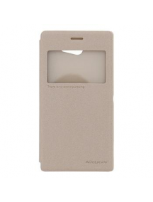 Funda libro Nillkin Fresh S-View Sony Xperia M2 D2303 dorada