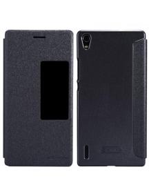 Funda libro Nillkin Sparkle S-View Huawei Ascend P7 negra