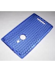 Funda TPU Nokia 925 Lumia azul
