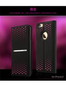 Funda Usams libro Groove Series iPhone 6 Plus negra/rosa