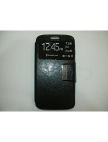 Funda libro TPU S-view HTC Desire 620 negra