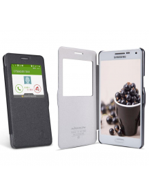 Funda libro Nillkin Fresh S-View Samsung Galaxy Note 4 N910F neg