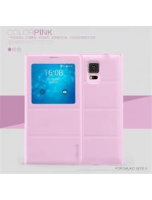 Funda libro Usams Legend S-View Samsung Galaxy Note 4 N910F rosa