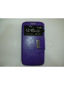 Funda libro S-view Sony Xperia M4 Aqua E2303 E2306 lila