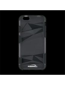 Funda TPU Kisswill Fashion iPhone 6 transparente - negra