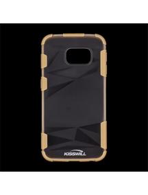 Funda TPU Kisswill Samsung Galaxy S6 Edge G925 transp - cobre