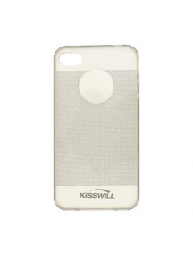 Funda TPU Kisswill Shine iPhone 4 - 4S gris