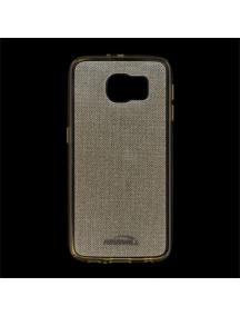 Funda TPU Kisswill Shine Samsung Galaxy S6 G920 dorada