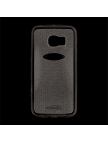 Funda TPU Kisswill Shine Samsung Galaxy S6 Edge G925 gris