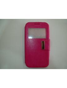 Funda libro TPU S-view Vodafone Smart Ultra 6 rosa