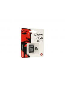 Tarjeta de memoria micro SD Kingston 16Gb clase 4 con adaptador