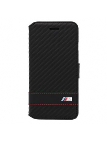 Funda libro BMW BMFLBKP6LMCC carbono iPhone 6 Plus