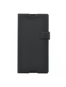 Funda libro Sony SMA5143CF Xperia T2 Ultra negra carbono