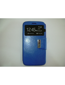 Funda libro TPU S-view Alcatel Pop Star 3G azul