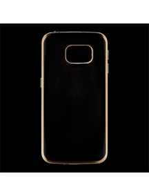 Funda TPU Kisswill Samsung Galaxy S6 Edge G925 transp - dorada