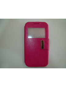 Funda libro TPU S-view Alcatel 795 - Vodafone Smart Speed 6 rosa