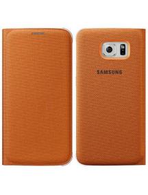 Funda libro Samsung EF-WG920BOE Galaxy S6 Edge G920 naranja