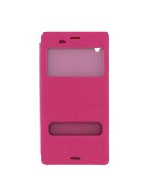 Funda libro Pudini S-view Sony Xperia Z3 D6603 rosa