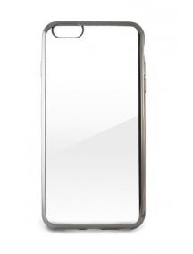 Funda TPU iPhone 6 - 6s transparente - plata
