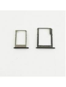 Zócalo de SIM + Tarjeta de memoria Samsung Galaxy A3 A300F - A5 A500F - A7 A700F negro