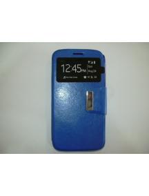 Funda libro TPU S-view LG K8 K350n - K7 X210 azul