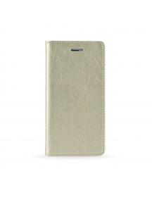 Funda libro TPU imán Samsung Galaxy S7 Edge G935 dorada