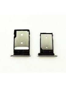 Zócalo de SIM + micro SD HTC One A9 blanco