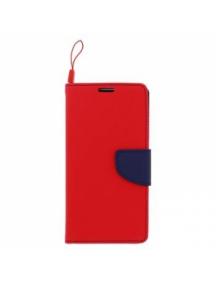 Funda libro TPU Fancy Huawei Ascend Y5 II - Y6 II Compact roja