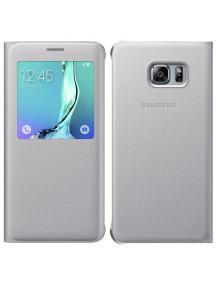 Funda libro S-view Samsung EF-CG928PSEGWW S6 Edge Plus G928 plat