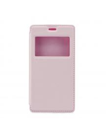 Funda libro TPU iman Roar Noble iPhone 7 Plus rosa