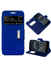 Funda libro TPU S-view BQ Aquaris X5 Plus azul