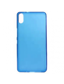 Funda TPU BQ Aquaris X5 Plus azul