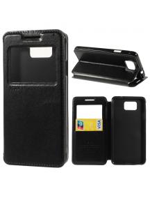 Funda libro imán TPU s-view Roar Fancy Diary iPhone 7 Plus negra