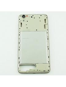 Carcasa intermedia Huawei Y6 II 2016 blanca / dorada