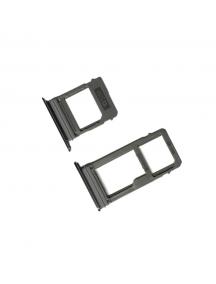 Zócalo de SIM + SD Samsung Galaxy A5 2017 A520 negro dual sim