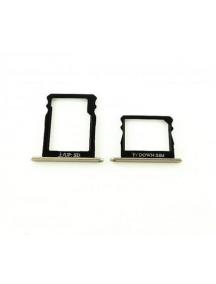 Zócalo de SIM + micro SD Huawei Ascend P8 dorado