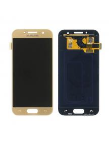 Display Samsung Galaxy A3 2017 A320 dorado
