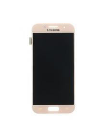 Display Samsung Galaxy A3 2017 A320 rosa
