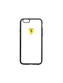 Funda TPU Ferrari Racing FEHCPSEBK iPhone 5 - 5S - SE negra - transparente