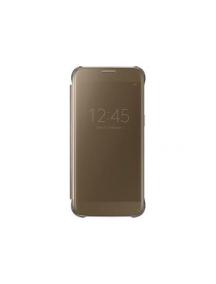 Funda libro Clear View Samsung EF-ZG930CFE Galaxy S7 G930 dorada