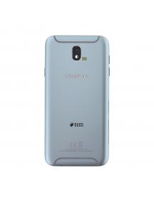 Carcasa trasera Samsung Galaxy J7 2017 plata - azul