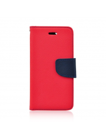 Funda libro TPU Fancy Huawei Ascend Y5 2017 - Y6 2017 roja