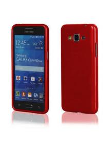 Funda TPU Metallic Samsung Galaxy Grand Prime G530 roja