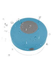 Altavoz Bluetooth BTS06 acuático con ventosa azul