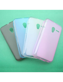 Funda TPU Alcatel Pop 3 (5) 5065X - Pixi 3 5.0 negra - transparente